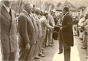 Arjuna Hulugalle Collection.<br /> R.Y.Daniel introducing Governor Stubbs 1936 to the planting community at the Residency in Matale. R.Y. Daniel had hosted a Garden Party for the members of the Urban District Council and the planters to meet the Governor.