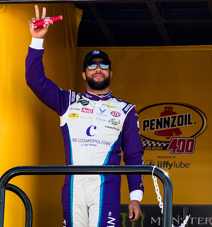 Mar 04, 2018  Las Vegas, NV, U.S.A. # 43 Bubba Wallace introduce to the fans before the Nascar Monster Energy series Pennzoil 400 at Las Vegas Motor Speedway Las Vegas, NV.  Thurman James / CSM