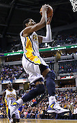 Feb. 28, 2012; Indianapolis, IN, USA; Indiana Pacers small forward Danny Granger (33) takes the ball to the basket against the Golden State Warriors at Bankers Life Fieldhouse. Indiana defeated Golden State 102-78. Mandatory credit: Michael Hickey-US PRESSWIRE
