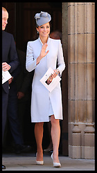 The Duke and Duchess of Cambridge leaving the Easter Sunday Church Service at St.Andrew's Cathedral in Sydney, Australia, Sunday, 20th April 2014. Picture by Stephen Lock / i-Images
