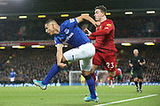 Everton forward Richarlison (7) and Liverpool midfielder Xherdan Shaqiri (23)  during the Premier League match between Liverpool and Everton at Anfield, Liverpool, England on 4 December 2019.