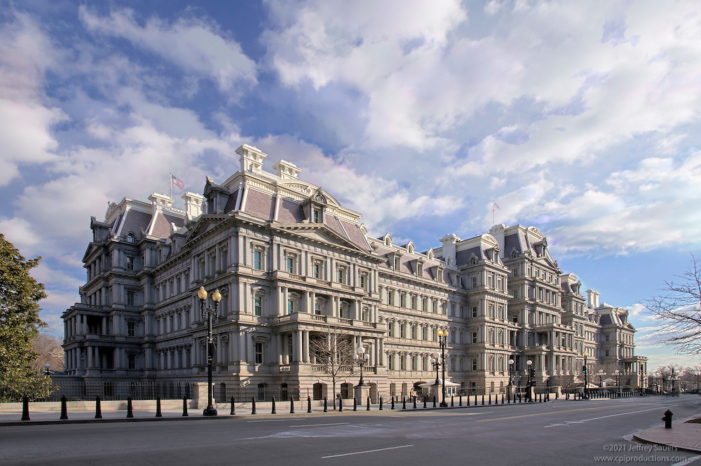 Exterior image of Eisenhower Executtive Office Building in Washington, DC