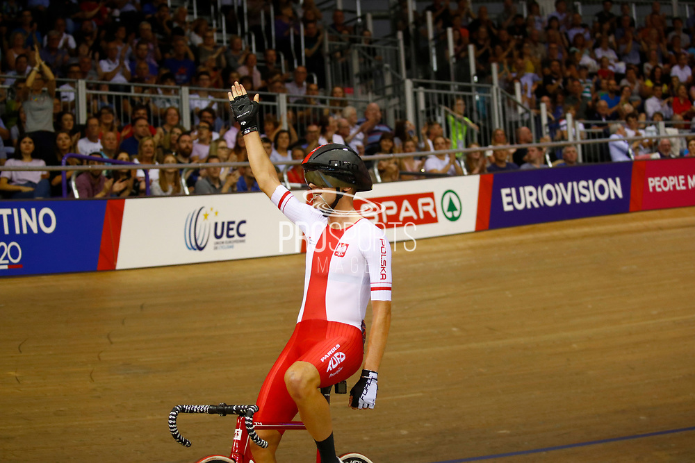 Men Points Race, Wojciech Pszczolarski (Poland) gold medal, during the Track Cycling European Championships Glasgow 2018, at Sir Chris Hoy Velodrome, in Glasgow, Great Britain, Day 4, on August 5, 2018 - Photo Luca Bettini / BettiniPhoto / ProSportsImages / DPPI - Belgium out, Spain out, Italy out, Netherlands out -