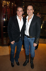Left to right, actor KEVIN ZEGERS and DAVID FURNISH at a Christmas party to celebrate the 225th Anniversary of Asprey held at their store 167 New Bond Street, London on 7th December 2006.<br />