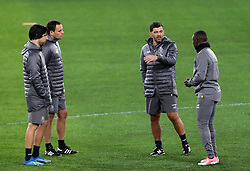 February 11, 2019 - Rome, Italy - FC Porto press conference and training - Champions League.Sergio Conceicao Manager of Porto with the staff at Olimpico Stadium in Rome, Italy on February 11, 2019. (Credit Image: © Matteo Ciambelli/NurPhoto via ZUMA Press)