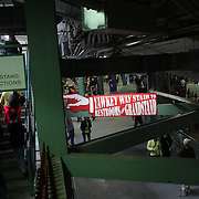 Under the stands at the Boston Red Sox V Tampa Bay Rays, Major League Baseball game on Jackie Robinson Day, Fenway Park, Boston, Massachusetts, USA, 15th April, 2013. Photo Tim Clayton