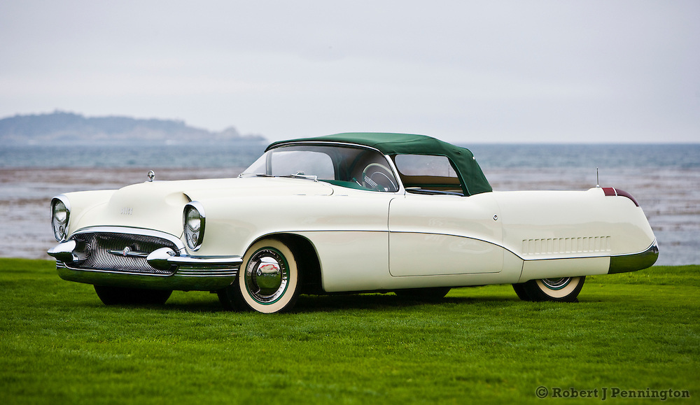 General Motors displays a collection of Concept Cars from the Motorama of the mid 1950s on the 18th Green of the 2008 Pebble Beach Concours de Elegance. 1953 Buick Wildcat I.