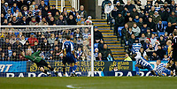 Photo: Gareth Davies.<br />Reading v Everton. The Barclays Premiership. 23/12/2006.<br />Everton's Andy Johnsion (2nd Right Gold) scores to make it 1-0 to Everton.