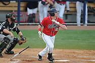 Ole Miss' Matt Tracy (29) drives in a run with a double vs. Lipscomb at Oxford-University Stadium in Oxford, Miss. on Sunday, March 13, 2011. Ole Miss won 5-1 to sweep the series and improve to 13-4.