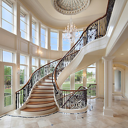 22591 Creighton Farms Road mansion and flying staircase builder Creighton Enterprises, Inc