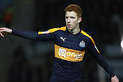 Newcastle United midfielder Jack Colback (4) during the EFL Sky Bet Championship match between Brighton and Hove Albion and Newcastle United at the American Express Community Stadium, Brighton and Hove, England on 28 February 2017. Photo by Bennett Dean.