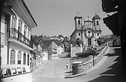 The Church of the Immaculate Conception, on the Praca Antonio Dias, is Ouro Preto's largest church. Brazil.<br /> Ronald Lewcock Collection.