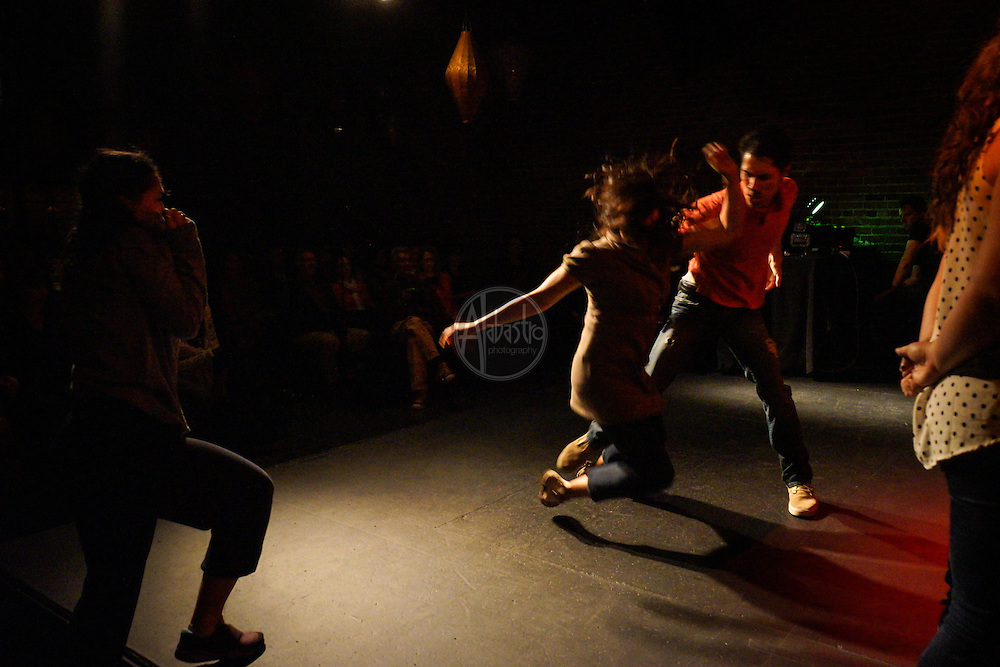 """""""Nothing Ever Goes On Here"""" book launch with author Ellen Newhouse at Georgetown Ballroom. Splinter Dance Company - Abuse Dance."""