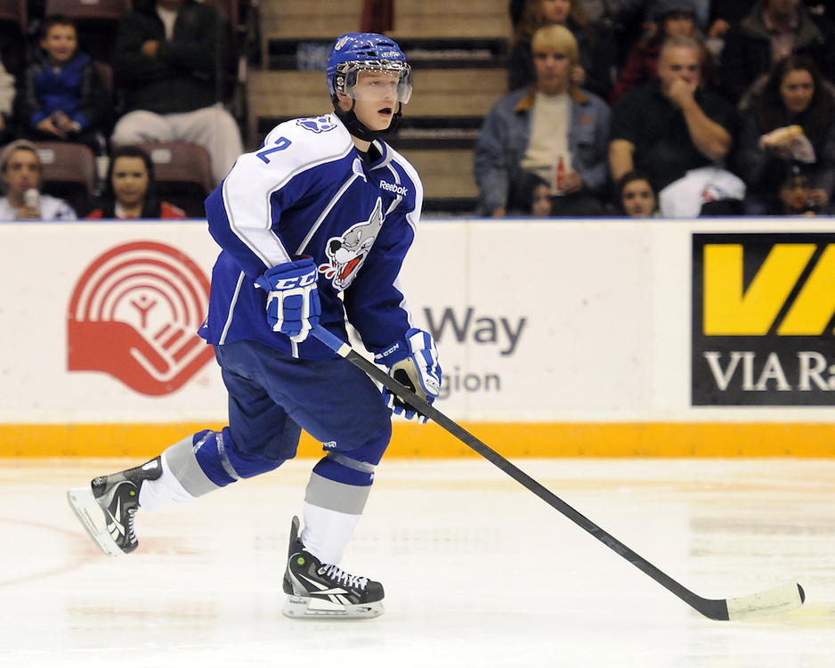 Cody Mintz of the Sudbury Wolves. Photo by Aaron Bell/OHL Images