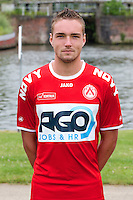 Kortrijk's Arno Claeys poses for the photographer during the 2014-2015 season photo shoot of Belgian first league soccer team KV Kortrijk, Tuesday 08 July 2014 in Kortrijk.