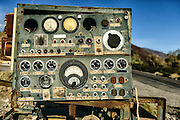 Control Panel on Abandoned Mining Machinery in Panamint Springs