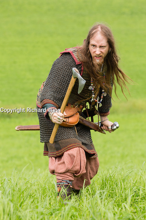 Viking warrior at the Dragonslayer fantasy event.
