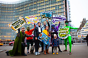 "As EU Fisheries Ministers gather today in Brussels to set fishing levels for the North East Atlantic for 2020, 13-year-old Farrah Delrue and 10-year-old Josephine Seton – representing current and future generations – presented European Commissioner for Environment, Oceans and Fisheries Virginijus Sinkevičius, and Minister Jari Leppa representing the Finnish Presidency of the Council, with more than half a million signatures from EU citizens who are calling for an end to overfishing by EU member states. EU Member states are required to end overfishing by 2020, under the Common Fisheries Policy (CFP).<br /> The Ocean Avengers, a team of superheroes embodying the ocean, climate, law, science and the will of EU citizens, attended the handover, urging Commissioner Sinkevičius to convey the message ""Ending overfishing IS Climate Action"" to AGRIFISH ministers, and they must obey the law by setting fishing limits within scientific advice, in order to reduce one of the biggest threats to the ocean and its capacity to support life on the planet"