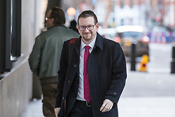 © Licensed to London News Pictures. 11/02/2018. London, UK. Andrew Gwynne MP arrives at BBC Broadcasting House. Photo credit: Rob Pinney/LNP