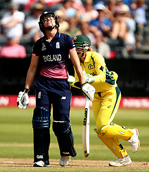 Sarah Taylor of England Women cuts a dejected figure after being bowled by Kristen Beams of Australia Women - Mandatory by-line: Robbie Stephenson/JMP - 09/07/2017 - CRICKET - Bristol County Ground - Bristol, United Kingdom - England v Australia - ICC Women's World Cup match 19