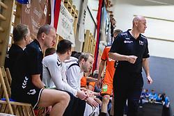 Nederland bench during friendly handball match between Slovenia and Nederland, on October 25, 2019 in Športna dvorana Hardek, Ormož, Slovenia. Photo by Blaž Weindorfer / Sportida