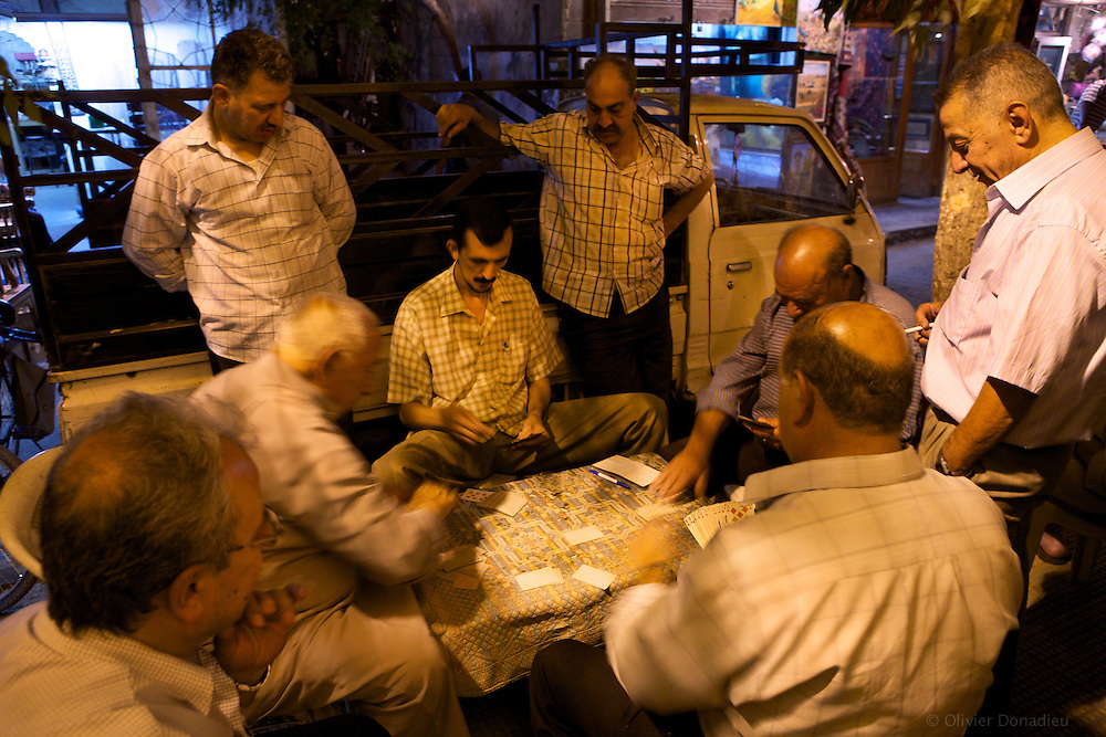Card players, Damascus, Syria. Joueurs de cartes, Damas, Syrie.