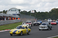 HSCC Gold Cup Oulton Park, Cheshire, United Kingdom.  28th-29th August 2011.  Race 3 HSCC Historic Road Sports. Supported by Moss Europe Ltd. 77 Barry Davison Lotus Elite. World Copyright: Peter Taylor/PSP. Copy of publication required for printed pictures. Every used picture is fee-liable.