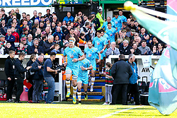 GJ van Velze of Worcester Warriors leads out his side against Leicester Tigers - Mandatory by-line: Robbie Stephenson/JMP - 23/09/2018 - RUGBY - Welford Road Stadium - Leicester, England - Leicester Tigers v Worcester Warriors - Gallagher Premiership