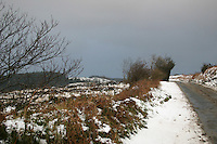 Snow scene, Wicklow, Ireland