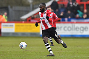 Hiram Boateng (44) of Exeter City during the EFL Sky Bet League 2 match between Exeter City and Swindon Town at St James' Park, Exeter, England on 24 March 2018. Picture by Graham Hunt.