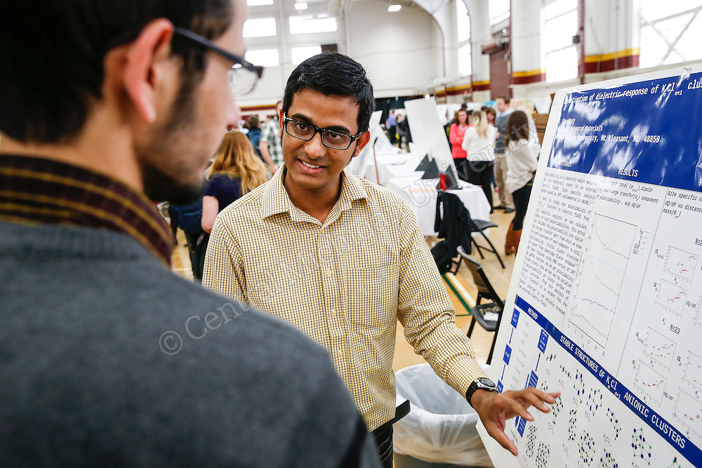 Student Research and Creative Endeavors Exhibition (SRCEE)-- 3D printing, visual merchandising and glioma cells were just a few of the topics discussed in Finch Fieldhouse Wednesday as more than 700 students showcased a year's work of research projects and creative endeavors.Photo by Steve Jessmore/ Central Michigan University