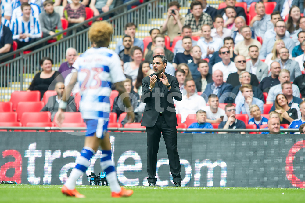 David Wagner manager of Huddersfield Town during the EFL Sky Bet Championship Play-Off Final match between Huddersfield Town and Reading at Wembley Stadium, London, England on 29 May 2017. Photo by Salvio Calabrese.