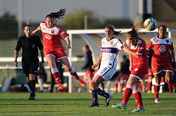 Caroline Weir of Bristol Academy takes a shot at goal - Mandatory byline: Dougie Allward/JMP - 07966386802 - 27/08/2015 - FOOTBALL - Stoke Gifford Stadium -Bristol,England - Bristol Academy Women FC v Oxford United Women - FA WSL Continental Tyres Cup