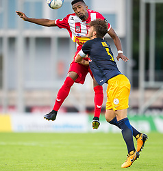 21.07.2017, Franz Fekete Stadion, Kapfenberg, AUT, 2. FBL, KSV 1919 vs FC Liefering , 1. Runde, im Bild Lucas Rangel Nunes Goncalves (KSV 1919), Luca Emanuel Meisl (FC Liefering) // during the Austrian Erste Liga Match, 1th Round, between KSV 1919 and FC Liefering at the Franz Fekete Stadium, Kapfenberg, Austria on 2017/07/21, EXPA Pictures © 2017, PhotoCredit: EXPA/ Dominik Angerer