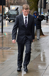 Peter Nunn arrives at Westminster Magistrates Court, in relation to alleged abuse of MP Stella Creasy.<br /> Thursday, 6th February 2014. Picture by Ben Stevens / i-Images