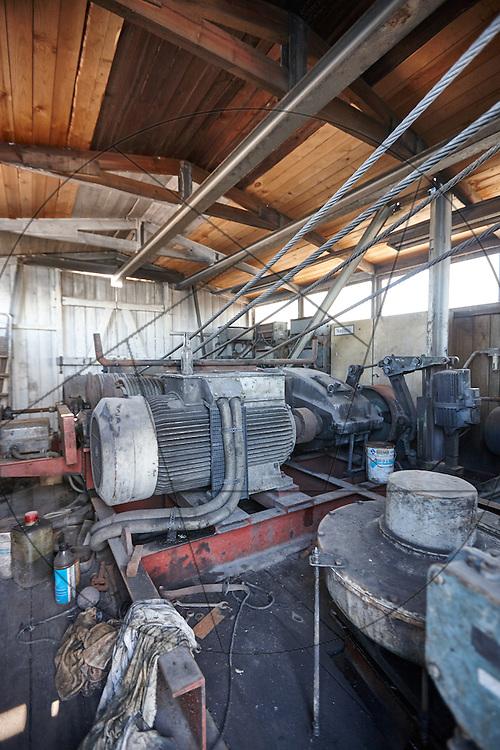 UNIONKUL, kran, Nordhavn, maskinrum, stålwire, inden restaurering