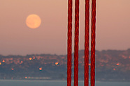 The Moon Through the Golden Gate Bridge
