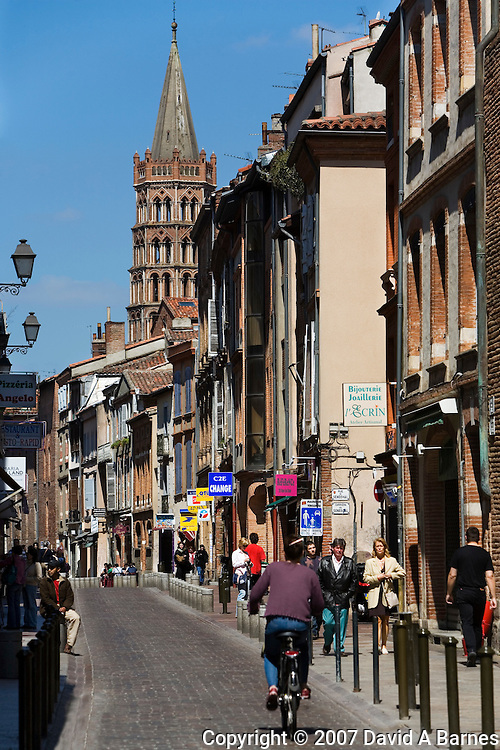 Tower of the Basilica Saint Sernin, Toulouse, Haute Garonne Midi Pyrenees, France