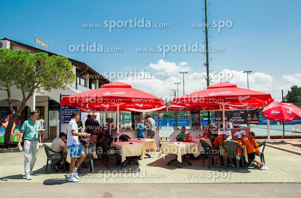 during Day 1 of ATP Challenger Tilia Slovenia Open 2014 on July 7, 2014 in  Tennis stadium SRC Marina, Portoroz / Portorose, Slovenia. Photo by Vid Ponikvar / Sportida