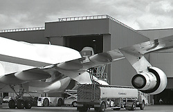 Jet Cargo Planes Being Fueled, and B/W Images
