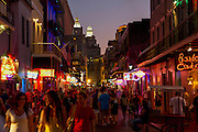 New Orleans night life – Bourbon street.