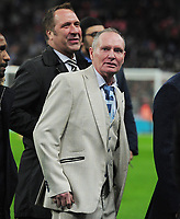 Football - 2019 / 2020 UEFA European Championships Qualifier - Group A: England vs. Montenegro<br /> <br /> Paul Gascoigne (Gazza) on the pitch at half time with other Ex England Internationals, at Wembley Stadium.<br /> David Seaman (behind)<br /> <br /> This game is England men's 1,000 international match.<br /> <br /> COLORSPORT/ANDREW COWIE
