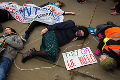 6 Apr 2016 - Student Nurses & Junior Doctors march to Dept. of Health and stage die-in.