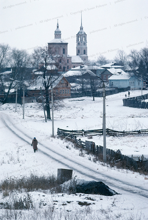 Street scene in Suzdal, Russia.