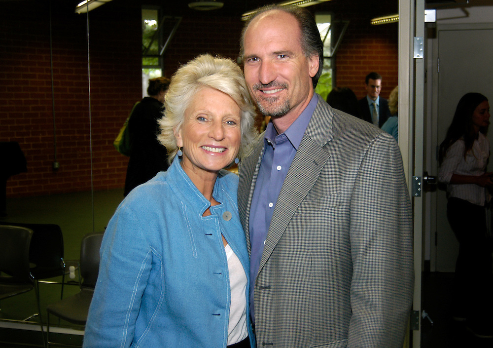 Manhattan Beach, CA - May 23rd, 2008:..Reception for 2008 Congressional High School Art Show Competition sponsored by Jane Harman...Rep Jane Harman with friend and former mayor of Manhattan Beach, Jim Aldinger..Photo By Bernard Fallon