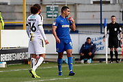 AFC Wimbledon striker Kweshi Appiah (9) signaling to the bench during the EFL Sky Bet League 1 match between AFC Wimbledon and Burton Albion at the Cherry Red Records Stadium, Kingston, England on 9 February 2019.