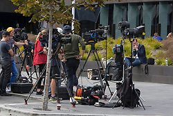 March 16, 2019 - Christchurch, New Zealand - Scenes at the Justice Precinct after shooting incidents at the Linwood Islamic Centre, Linwood Avenue and the Mosque in Deans Avenue , Christchurch, New Zealand, March 16, 2019. (Credit Image: © David Alexander/SNPA/ZUMAPRESS.com)