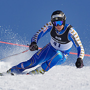 Douglas Hedin, Sweden, in action during the Men's Giant Slalom competition at Coronet Peak, New Zealand during the Winter Games. Queenstown, New Zealand, 22nd August 2011. Photo Tim Clayton