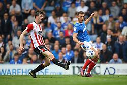Kal Naismith of Portsmouth crosses the ball - Mandatory by-line: Jason Brown/JMP - 06/05/2017 - FOOTBALL - Fratton Park - Portsmouth, England - Portsmouth v Cheltenham Town - Sky Bet League Two