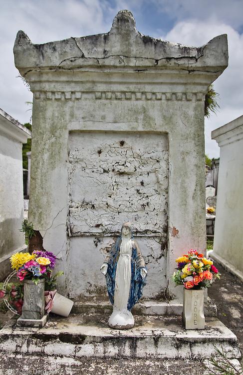 Terre-aux-Bouefs Cemetery in St. Berndard, Louisiana.
